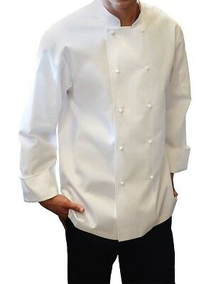 ChefWorks Chefs Jacket White Long Sleeve Restaurant Hotel Cafe