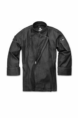 ChefWorks Mens Denim Zipper Chefs Jacket Restaurant Hotel Cafe