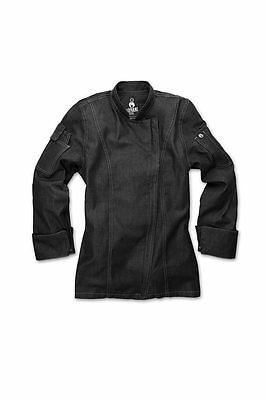 ChefWorks Womens Denim Zipper Chefs Jacket Restaurant Hotel Cafe