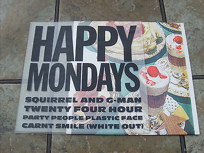 Happy Mondays  Squirrel And G-Man   1st  Pressing Inc Desmond  Plastic Sleeve
