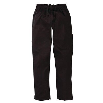 Chefs Pants Black (6 Sizes) Restaurant Hotel Cafe