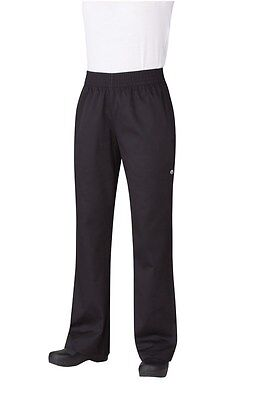 ChefWorks Womens Baggy Chefs Pants Black Restaurant Hotel Cafe