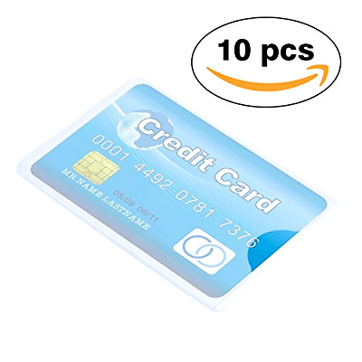 Idealeben Hard Clear Plastic Credit Card Protector Sleeves ID Holder 10 pcs
