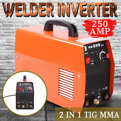 Welder Inverter DC WSM 250Amp Welding Machine ARC MMA & TIG Portable Lightweight