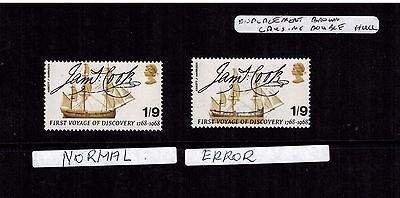 1968 bridges SG770 STAMP MAJOR BROWN SHIFT WITH DUBBEL HULL ERROR