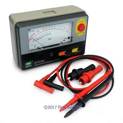 DY3165 500V Analogue Insulation Tester Resistance Meter 1-1000MΩ