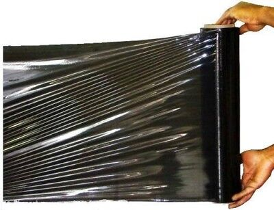 1 X Strong Black Pallet Roll Stretch Shrink Wrap Cast Parcel Packing Cling Film