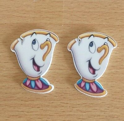 2x Chip Beauty And The Beast Belle Princess Flat Back Planar Resin Embellishment