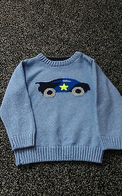 baby boys jumper, blue, next, age 18-24 month