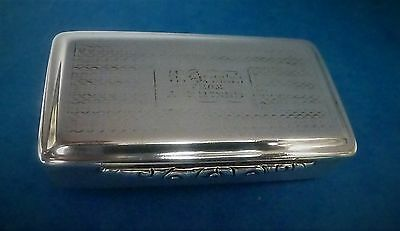 Victorian Silver Snuff Box by Edward Smith Hallmarked Birmingham 1841
