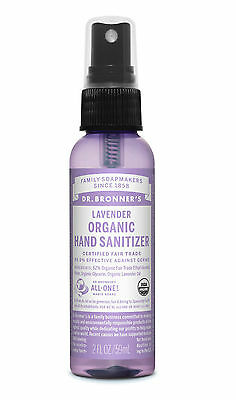 Dr. Bronner`s Organic Lavender Hand Sanitiser 59ml - No tested on Animals-