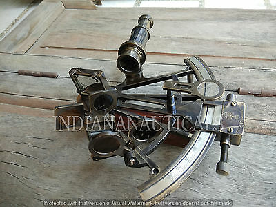 "Antique Nautical Heavy Working Sextant 8"" Maritime Navigational Ship Instrument."