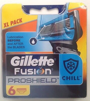 Gillette Fusion Proshield Chill (XL Pack) - 1x 6 Blades Pack (Genuine)