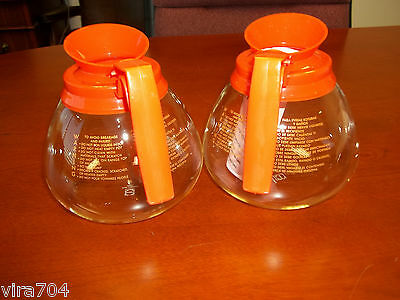 2 Pack - 12 Cup Commercial Coffee Pots/Carafes/Decanters for Bunn - Decaf