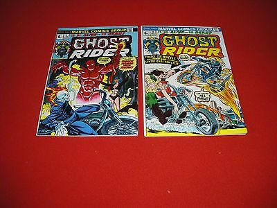 Ghost Rider  Vol 1  #2  &  #3  Bronze Age Classics  Friedrich - Mooney  Vf+/nm