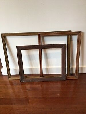 3 Assorted VintageTimber Picture frames