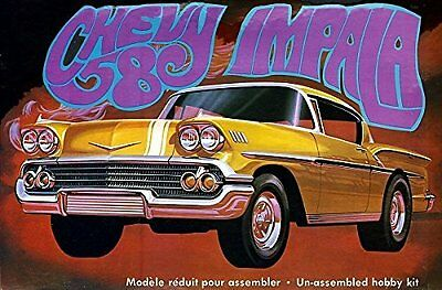 AMT 946 1958 Chevy Impala 1:25 Scale Plastic Model Kit - Requires Assembly. Mold