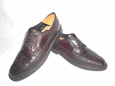 Men's The Hanover Shoe Burgundy Leather Dress Wingtips Size 10 M