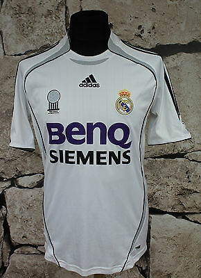 REAL MADRID _ 2006 /2007 HOME Football Shirt Jersey  _ SIZE S _ ( 485 )