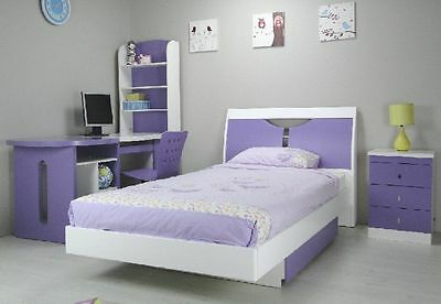 SALE Single Storage Bed with Drawers Lilac/White kids bedroom