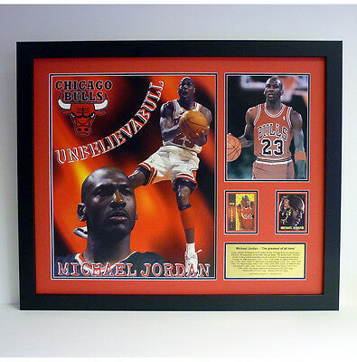 Michael Jordan signed Chicago Bulls Presentation
