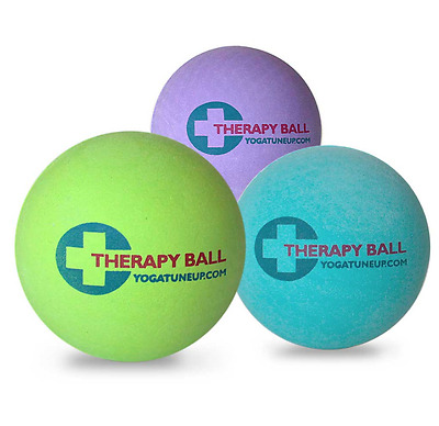Yoga Tune Up Massage Therapy Ball x 2 in mesh tote NEW trigger point