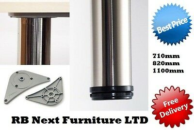 Set of legs 710mm 4x ALUMINIUM kitchen table worktop support