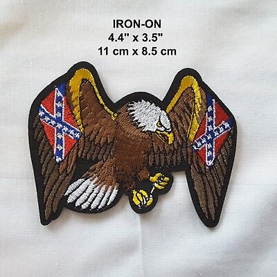 Eagle Wings Embroidered Iron-on Bird Emblem Patch USA Biker Applique