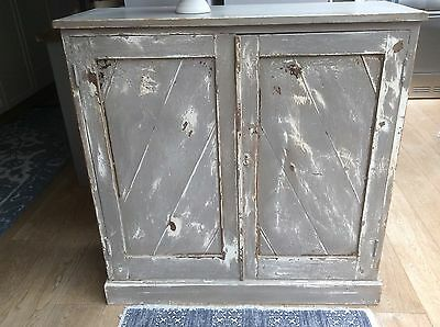 Vintage Antique Shabby Chic Painted pine storage cupboard