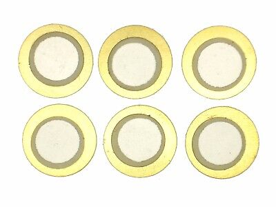 6x Piezo-Element ø12mm (E-Drum-Trigger,Pickup,Resonanzkörper,Piezos,Sensor)