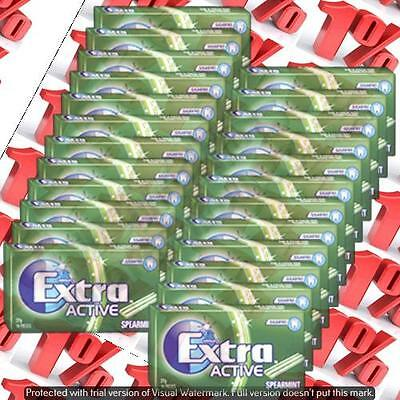 1x Wrigley's Extra Sugarfree Active Spearmint - 24 X 27 G