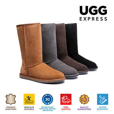 UGG Boots Tall Classic Unisex, Premium Australian Double Faced Sheepskin NonSlip