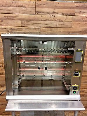 Equipex RBE-8 Sodir Parade 6-8 Bird Electric 2 Spit Commercial Rotisserie Oven