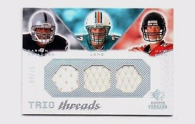 Matt Ryan, Jake Long, Darren McFadden 2008 SP, Rookie Threads, 7/45 !!