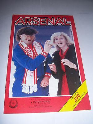 ARSENAL v LUTON TOWN 1985/86 - FA CUP 5TH ROUND REPLAY - FOOTBALL PROGRAMME