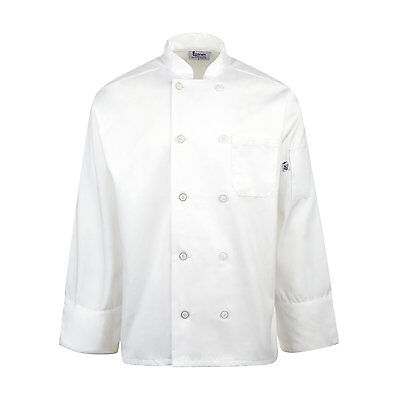Linteum Textile 35/65 Cotton/Poly Unisex Chef Coat- White