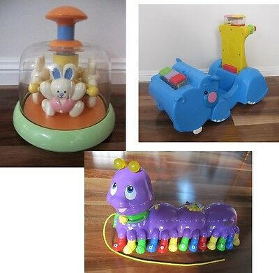 Three Baby/Toddler Growth & Development Toys: Fisher-Price, LeapFrog, Tolo Toys