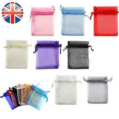 *UK Seller* 10 x 15cm Organza Wedding Favour Candy Jewellery Gift Bags Pouches