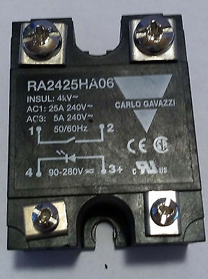 1 Used Carlo Gavazzi Ra2425Ha06 Solid State Relay ***make Offer***