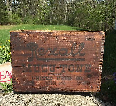 RARE Antique REXALL Drug Store Pharmacy Shipping Crate Not Sign United Drug Co.