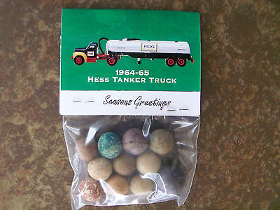 1964-1965  Hess Tanker Truck  Advertisement -  Clay Marbles