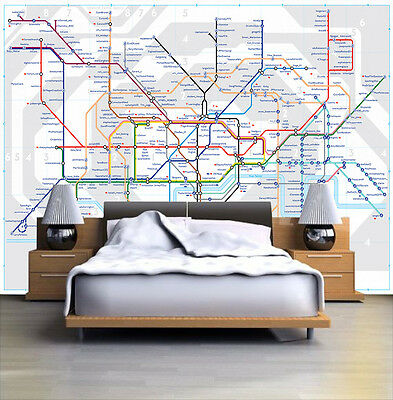 HQ Wall Mural UK London Underground Map Photo Wallpaper Room 108