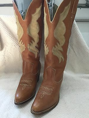 Women's Leather Western Cowboy Boots Size 8