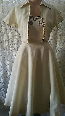 Vintage 1950's L'Aiglon Sundress with Matching Jacket Dress
