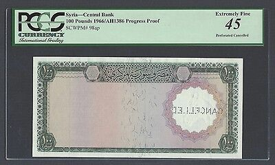 Syria 100 Pounds 1966/AH1386 P98ap Proof Extremely Fine