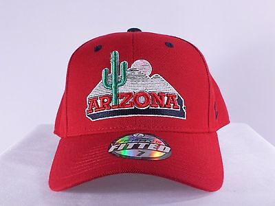 Arizona Wildcats Ncaa Vintage Fitted Adult Cap By Zephyr C59
