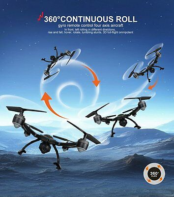 JXD 510G HD Monitor Camera Black 2.4Ghz 6 Axis 2MP RC Drone Quadcopter UFO Gyr
