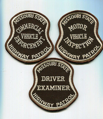 Missouri State Highway Patrol OLD STYLE Patch SET - 3 Patches