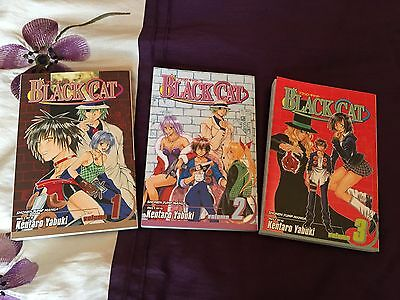 Black Cat Manga Kentaro Yabuki Volumes 1-3 EXCELLENT
