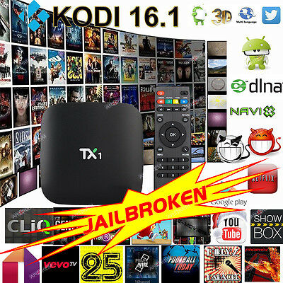TX1 Quad Core Android Smart TV Box Fully Loaded Media Player Free Sports Movies